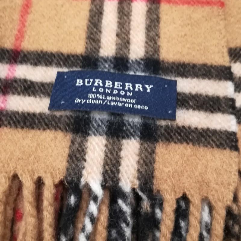 famosa marca de diseñador Código promocional vívido y de gran estilo Bufanda marrón de cuadros de Burberry - BURBERRY