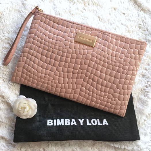 mejores telas fecha de lanzamiento: bien fuera x Bolso de mano rosa Bimba y Lola - BIMBA Y LOLA