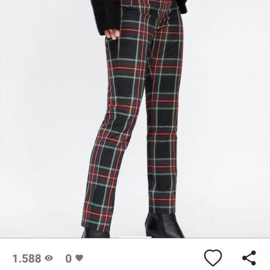 pantalones zara hombrecuadros