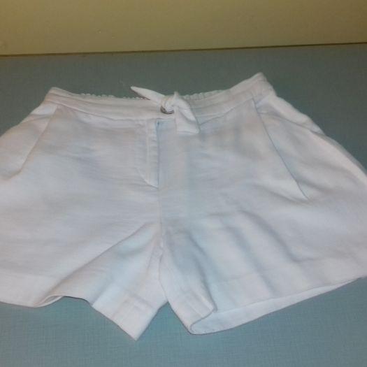 mejor elección nueva colección brillante n color Pantalón corto de lino blanco - ZARA