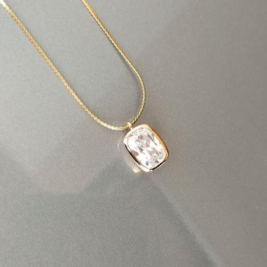 be704aa4bd56 Collar Plata y Oro Joya Circonita Goldfield - ARTESANAL